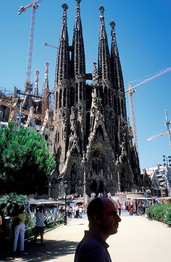 La Sagrada Familia cathedral, Barcelona, Spain, Europe : Stock Photo