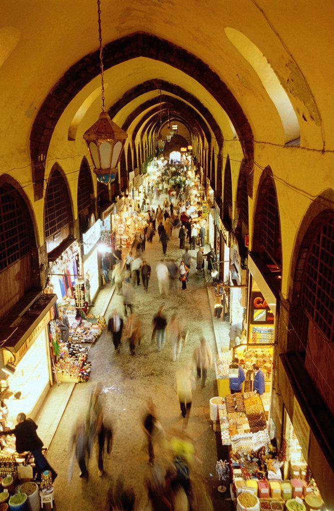 Stock Photo: 1844-400 Istanbul, Spice Bazaar