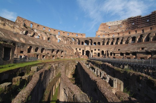 Stock Photo: 1844-4535 Colosseum, Rome, Italy, Europe