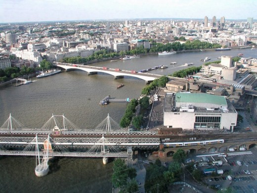 View from London Eye, London, Great Britain, Europe : Stock Photo