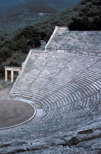 Theatre  Epidaurus, Argolis, Peloponnese, Greece : Stock Photo