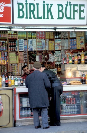 Kiosk for food and drink , Istanbul, Turkey, Middle East , : Stock Photo