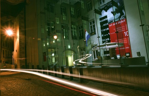 History´s Museum of the city by night, Luxembourg City, Luxembourg, Europe : Stock Photo