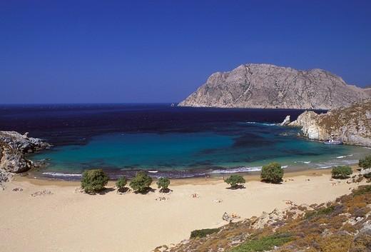 Grigos, Psili Amos Beach, Patmos, Dodecanese, Greece : Stock Photo