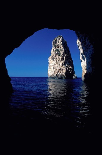 Paxi, Antipaxi: Ionian Paradise, Paxi, Ortholithos cave : Stock Photo