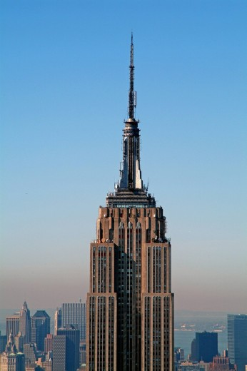 Stock Photo: 1844-6605 View of Empire State Building from Top of the Rock Observatory , New York City, New York, United States, North America ,