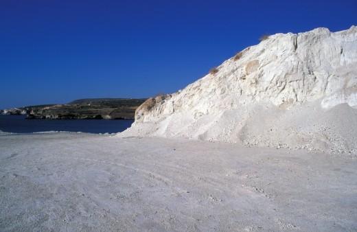 Stock Photo: 1844-819 Chalk mines Kimolos, Cyclades, Greece