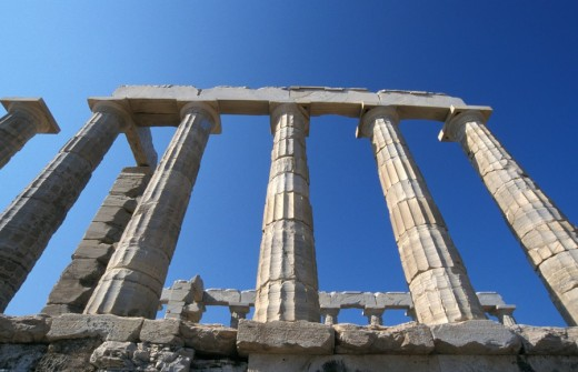 Stock Photo: 1844-8401 Temple of Poseidon  Sounio, Attica, Greece