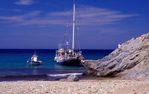 Stock Photo: 1844-9362 Psili Amos Beach, Patmos, Dodecanese, Greece