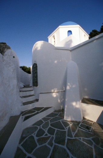 Stock Photo: 1844-998 The Christ of the Woods Monastery, Paros, Cyclades, Greece