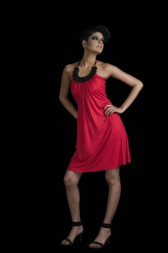 Stock Photo: 1846-1102 Female fashion model posing