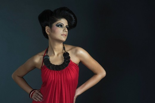 Stock Photo: 1846-1242 Female fashion model posing