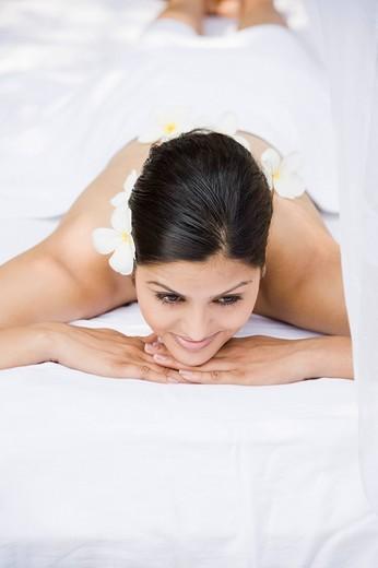 Woman getting spa treatment : Stock Photo