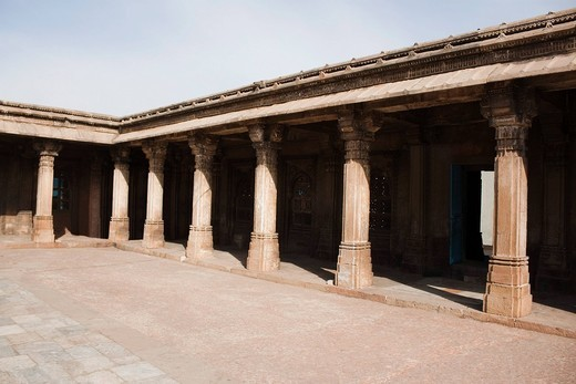 Stock Photo: 1846-14087 Courtyard of a building, Ahemdabad, Gujarat, India
