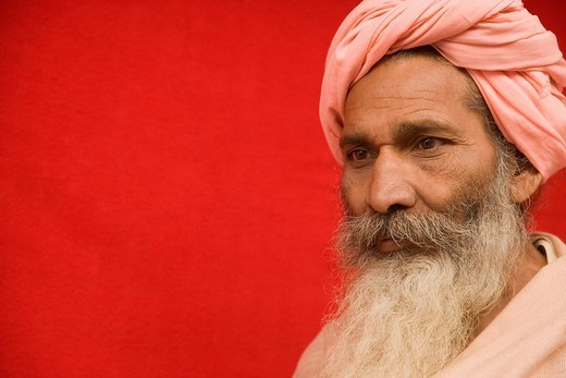 Stock Photo: 1846-3224 Close_up of a sadhu
