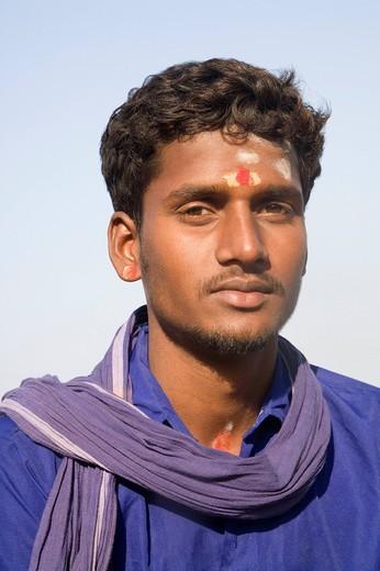 Stock Photo: 1846-4194 Portrait of a sadhu, Hampi, Karnataka, India