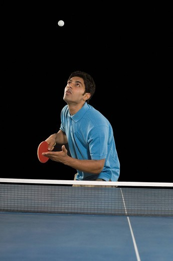 Man playing table tennis : Stock Photo