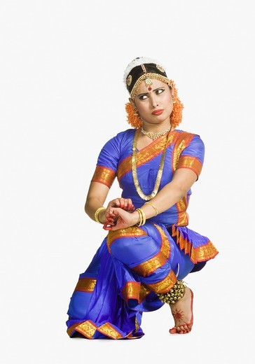 Woman performing Bharatnatyam the classical dance of India : Stock Photo