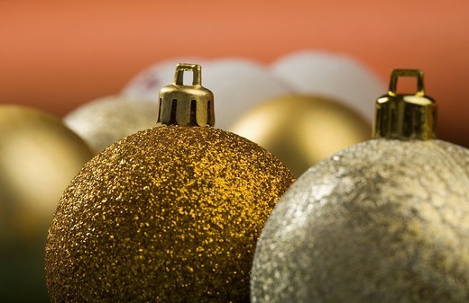 Close_up of Christmas ornaments : Stock Photo