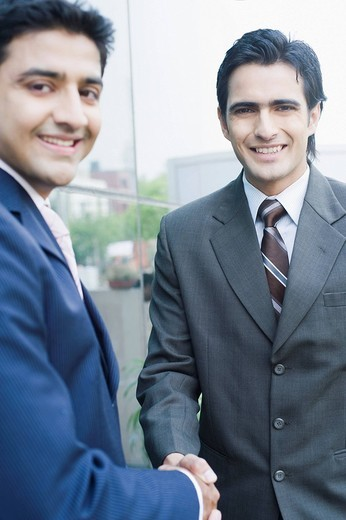 Stock Photo: 1846-9147 Two businessmen shaking hands