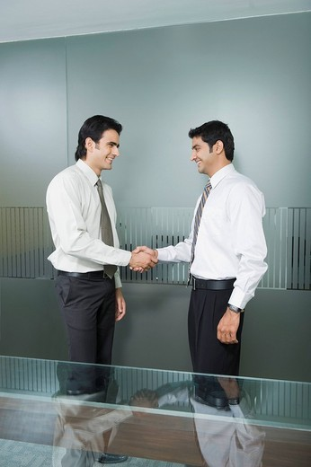 Stock Photo: 1846-9361 Two businessmen shaking hands