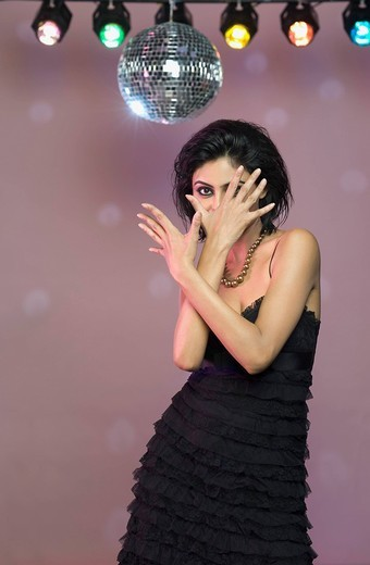 Woman dancing in a nightclub : Stock Photo