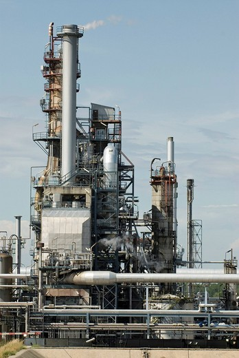 OMV Refinery formerly OeMV, Schwechat, Lower Austria, Europe : Stock Photo