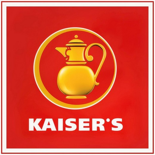 Kaiser´s logo, Kaiser´s Tengelmann AG, retail, food market : Stock Photo