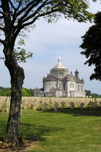 First World War Cemetery and Memorial at Notre Dame de Lorette, Pas_de_Calais, Somme valley, France, Europe : Stock Photo