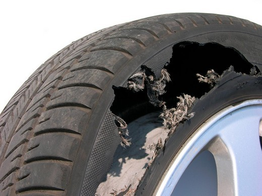 Stock Photo: 1848-101195 Car tire