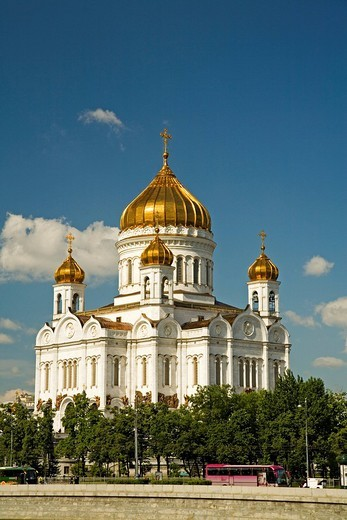 Stock Photo: 1848-101290 Christ the Savior Cathedral Moscow, Russia, East Europe, Europe