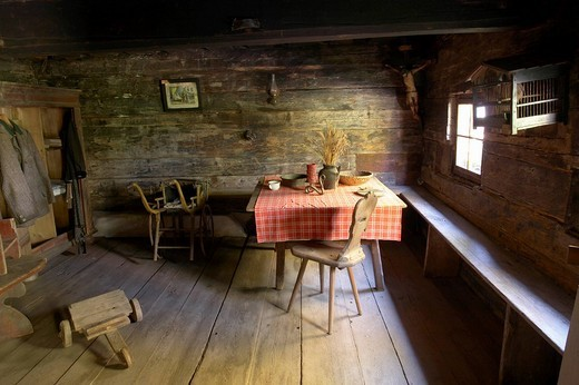 Stock Photo: 1848-101584 Farmhouse parlor, Maria Saal open air museum, Carinthia, Austria