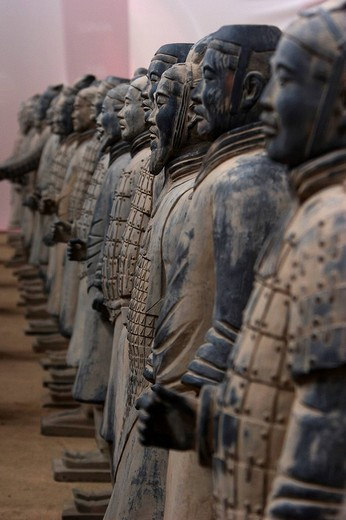 Stock Photo: 1848-101762 Reproductions of the Terracotta Warriors, Bad Kissingen, Bavaria, Germany, Europe