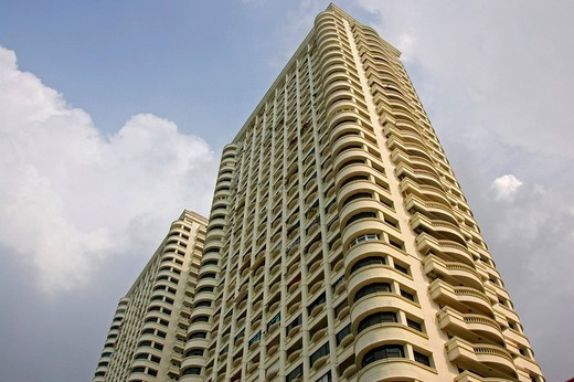 Stock Photo: 1848-101893 Typical apartment building where flats are rented by the week or month or sold as condos in Pattaya, Thailand, Southeast Asia