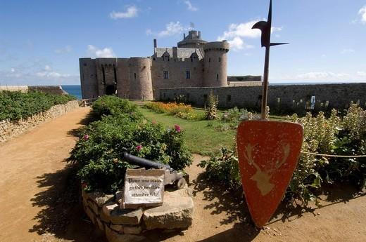 Fort la Latte Fortress near Cap Frehel, Bretagne, France, Europe : Stock Photo