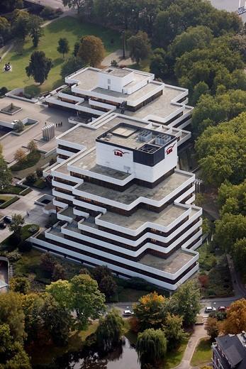 Building of the Landesbausparkasse, German public bank, LBS West, Muenster, North Rhine_Westphalia, Germany, Europe : Stock Photo