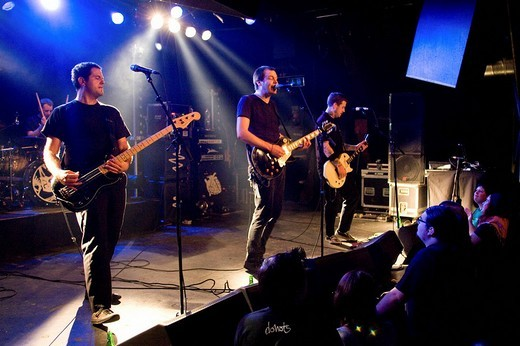 The US rock band American Steel, live in the Schueuer Lucerne, Switzerland : Stock Photo