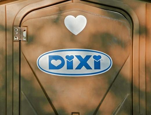 Dixie loo, travelling toilet : Stock Photo