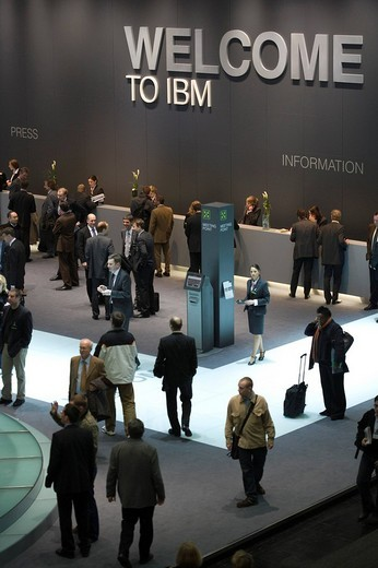 CeBIT 2008. presentation of IBM, HANOVER, GERMANY, 04.03.2008. : Stock Photo