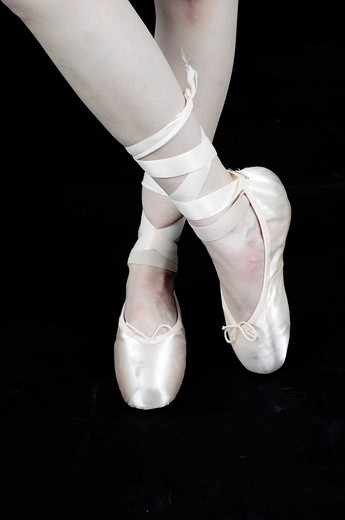 Stock Photo: 1848-103969 Legs of a young female ballet dancer, ballerina
