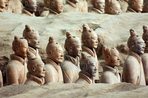 Stock Photo: 1848-103983 Terracotta warriors, Terracotta Army in the Mausoleum of the First Qin Emperor near Xi´an, Shaanxi Province, China, East Asia