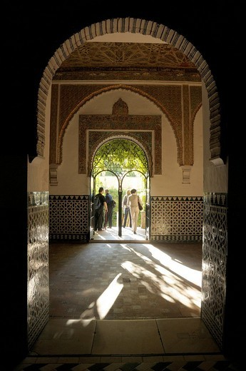 Alcazar, medieval royal palace, Sevilla, Andalusia, Spain, Europe : Stock Photo