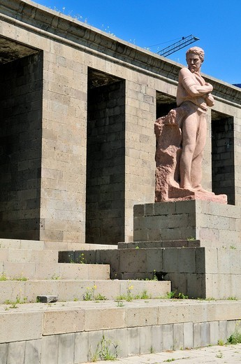 Sovjet style monument at downtown Yerevan, Jerewan, Armenia, Asia : Stock Photo
