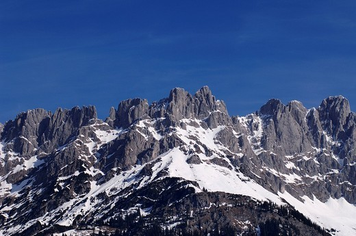 Wilder Kaiser Range near Going, Tirol, Austria, Europe : Stock Photo