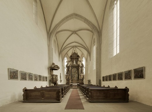 Monastery Church of John the Baptist in Mariaburghausen, Lower Franconia, Bavaria, Germany, Europe : Stock Photo