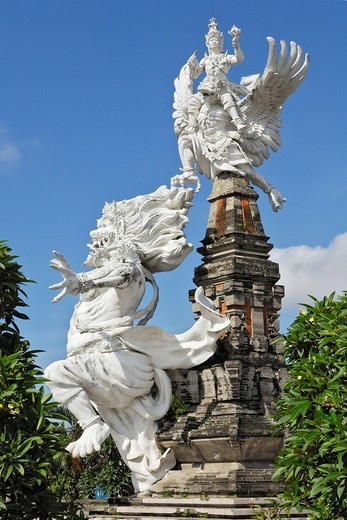Statues from Balinese mythology in Gianyar, Bali, Indonesia : Stock Photo