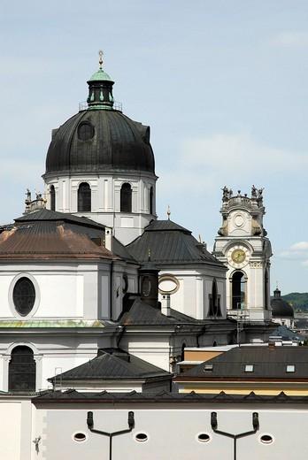 Dome of the Kollegienkirche collegiate church, Salzburg´s University Church, old town, Salzburg, Salzburger Land state, Austria, Europe : Stock Photo