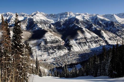 Stock Photo: 1848-10948 Ski region Telluride, Colorado, USA, North America