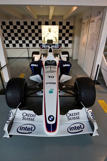 Formula One race car in the Verkehrshaus der Schweiz, Lucerne, Canton Lucerne, Switzerland : Stock Photo