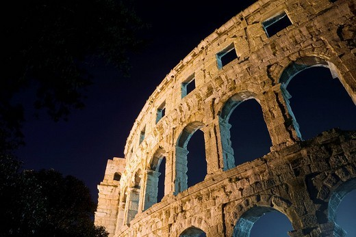 Stock Photo: 1848-109510 Roman amphitheater of Pula Istria Croatia